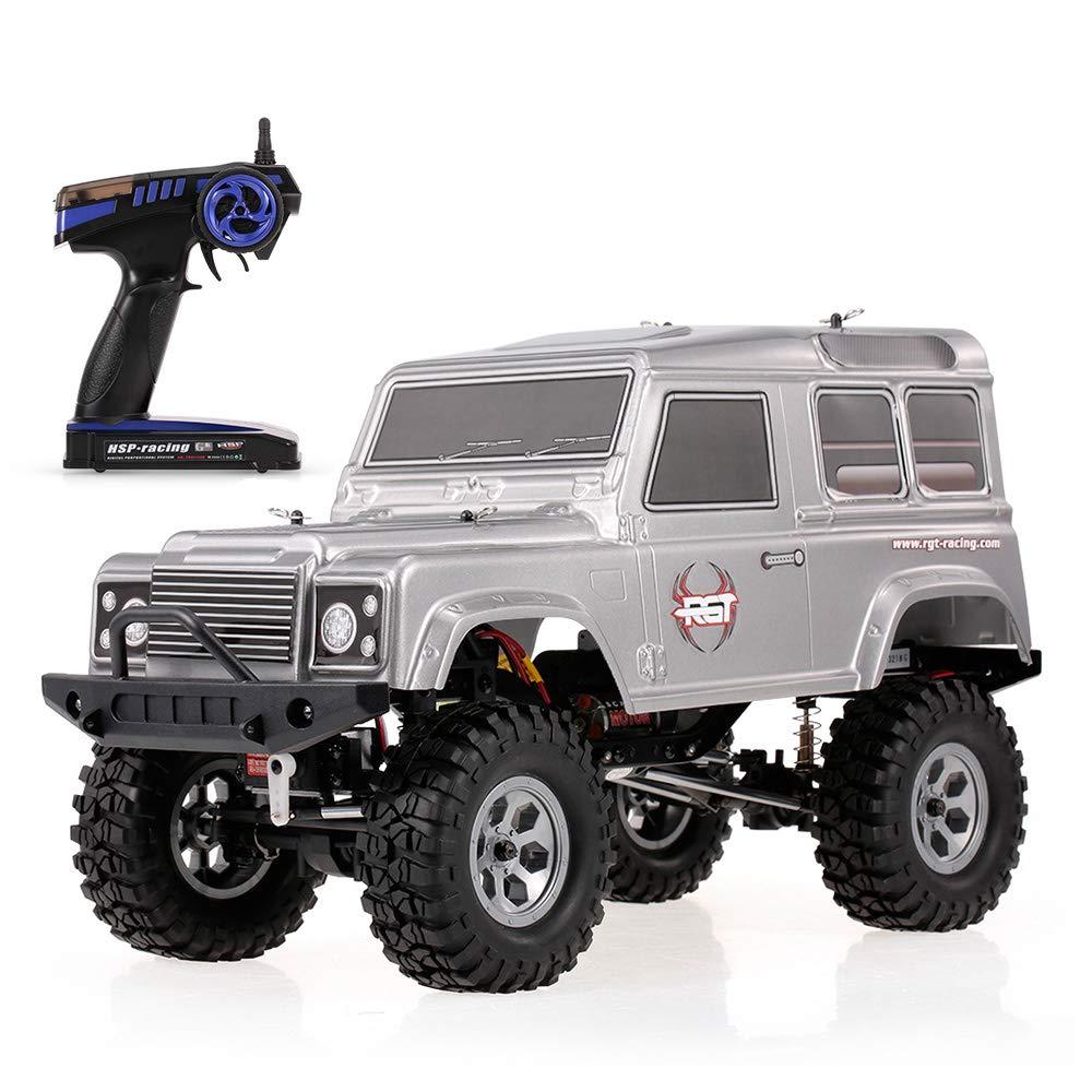 Goolsky RCカー RGT 136100 1/10 2.4GHz 4WD 防水高性能 現実的な ロック クルーザー RC-4 車 オフロード クローラー 子供 RTC ラジコンカー B07GBBQ9WR シルバー