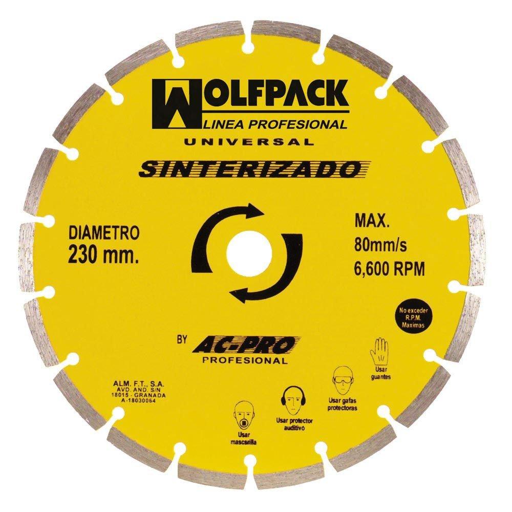 Wolfpack 9010305 Disco de Diamante segmentado sinterizado, 230 mm A Forged Tool SA