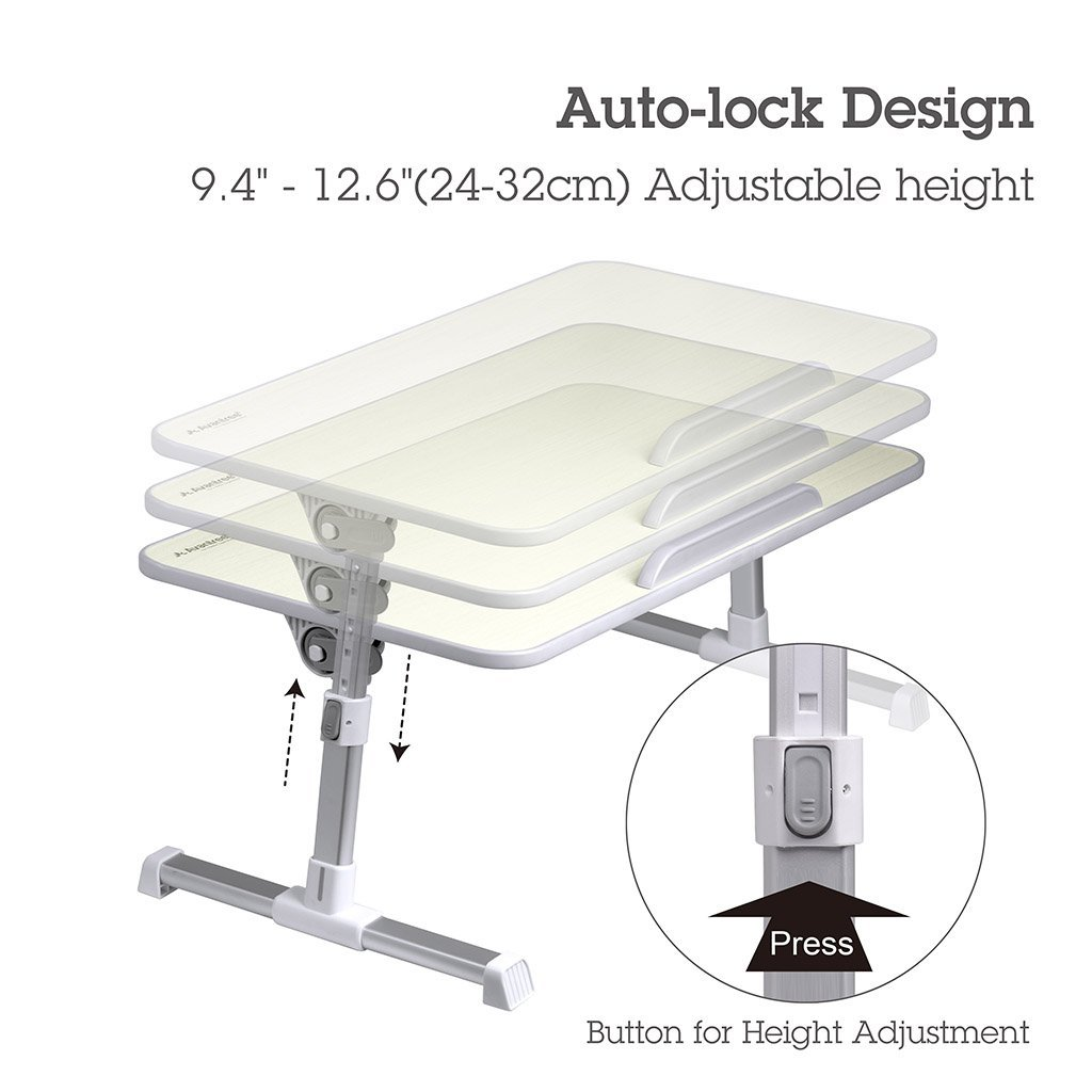Laptop bed table tray - Amazon Com Avantree Quality Adjustable Laptop Table Portable Standing Bed Desk Foldable Sofa Breakfast Tray Notebook Stand Reading Holder For Couch