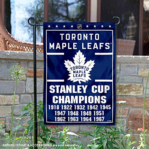 (Wincraft Toronto Maple Leafs 13 Time Stanley Cup Champions Double Sided Garden Flag )