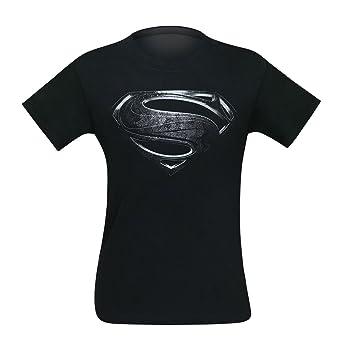 4f7ced00185 Amazon.com  Bioworld Superman Silver Movie Symbol Men s T-Shirt ...