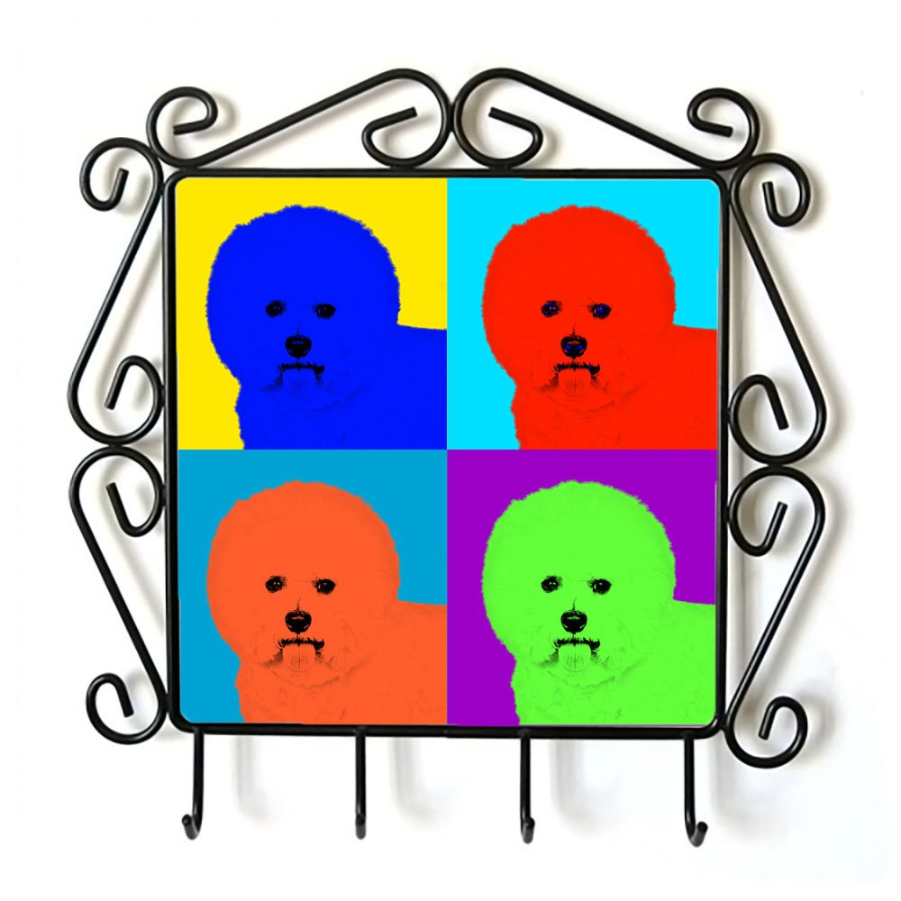 Bichon, Clothes Hanger with an Image of a Dog, Andy Warhol Style