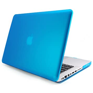 Incutex funda para ordenador portátil para Apple MacBook, rígida azul claro