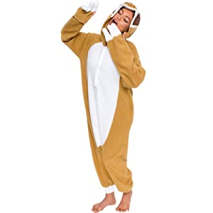 Silver Lilly Unisex Adult Pajamas - Plush One Piece Cosplay Sloth Animal  Costume 44c4bb7af