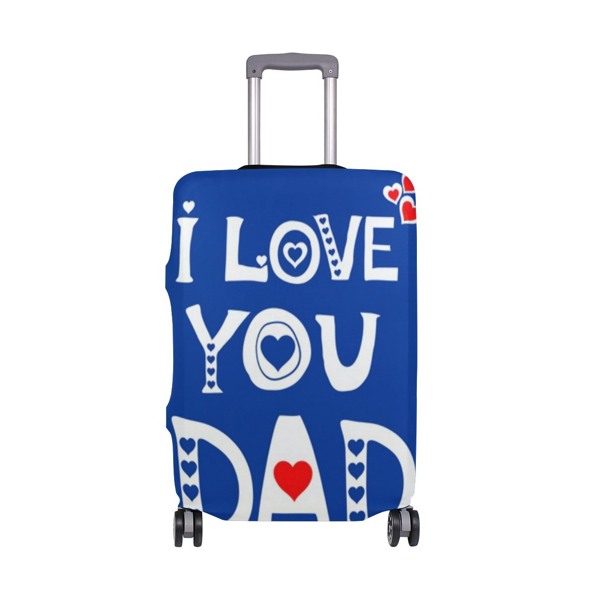 Love You Dad Father Day Birthday Suitcase Luggage Cover Protector for Travel Kids Men Women