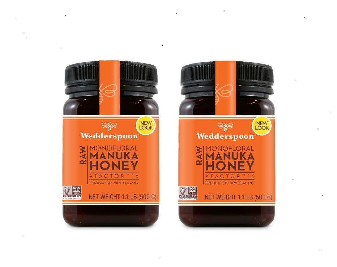 Wedderspoon Raw Manuka Honey KFactor 16 500 Grams (Pack of 2)