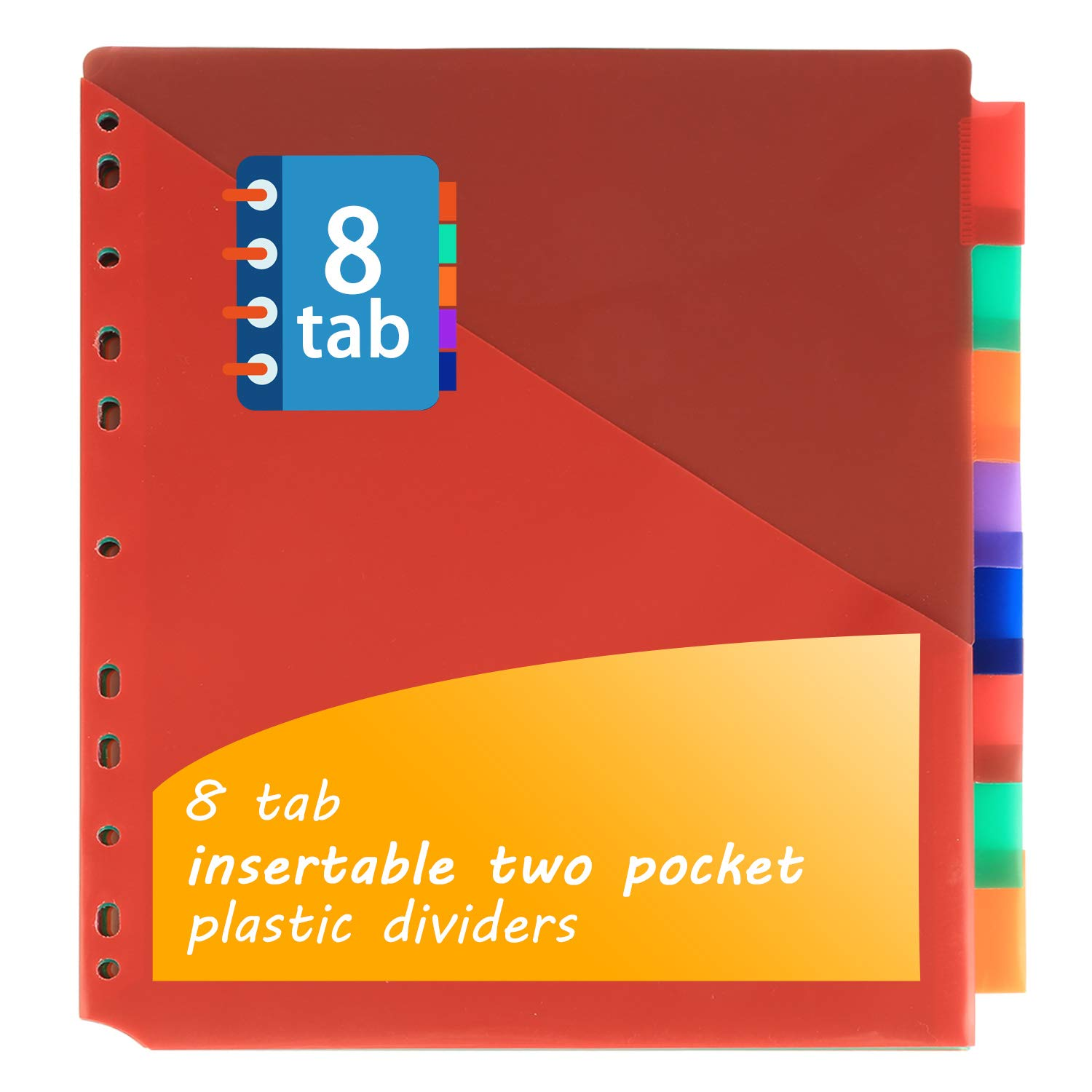 Binder Dividers w/Two Pocket