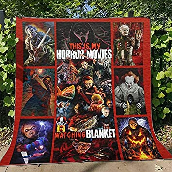 Beach Trip All-Season Quilts Comforters with Reversible Cotton King//Queen//Twin Size Best Decorative Unique Banklet for Traveling Concert Home Gift Horror Blanket Halloween Movies Quilt Picnic