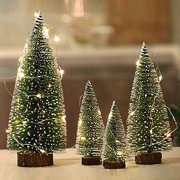 biuday Mini sisal nieve helada árboles botella cepillo árboles plástico invierno nieve adornos árboles de mesa