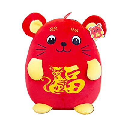 ZBmiluddeer Plush Toy,2020 Cute Cartoon Mouse New Year Mascot Rat Plush Stuffed Doll Toy Gift Decor: Sports & Outdoors