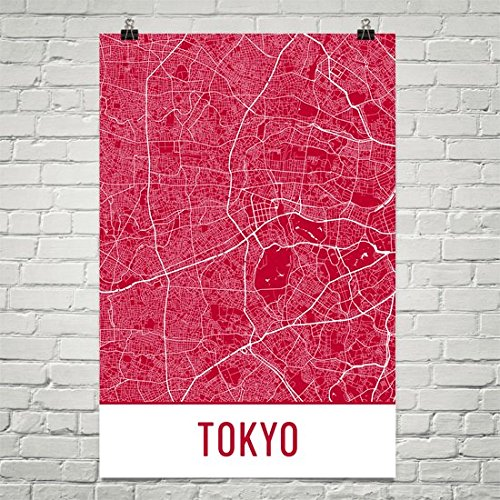 tokyo poster map