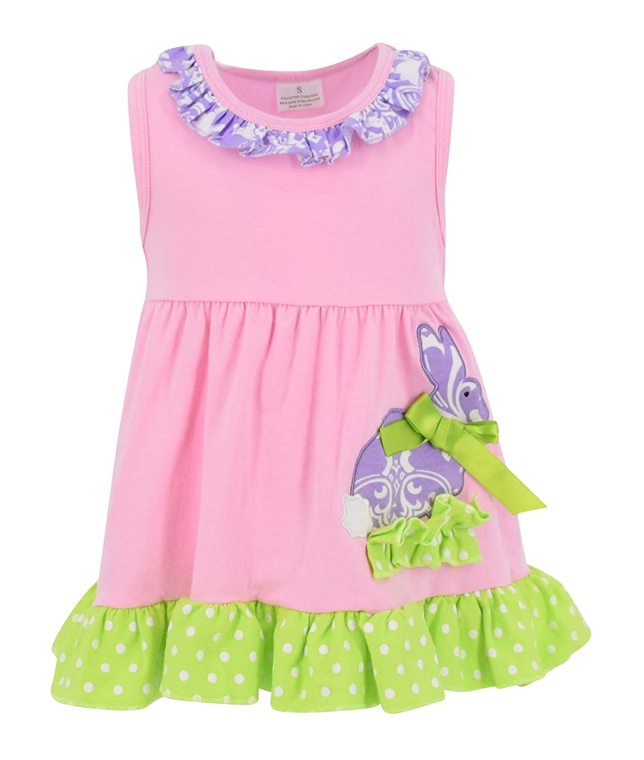 4d60232188fb Amazon.com  Unique Baby Girls Damask Easter Bunny Easter Outfit ...