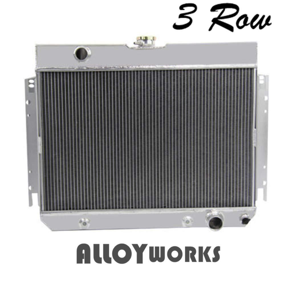 Alloyworks 3 Row Core Full Aluminum Radiator For 1964 67 Chevelle Fuse Box 1967 Impala Many Chevy Gm Gars Automotive