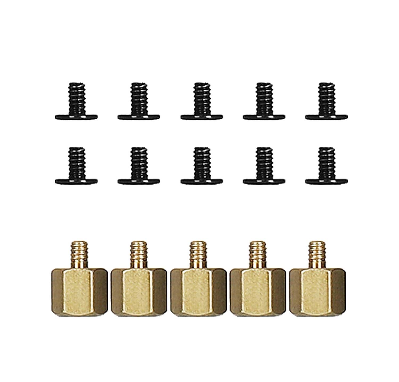 distanziatore per dadi esagonali FandWay M.2 Standoff e vite viti per scheda madre Asus M.2 5 set M.2 SSD kit di montaggio per unit/à M.2 + 1 cacciavite.