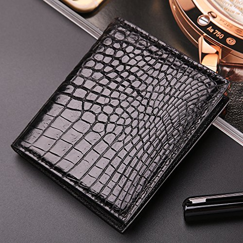 belly Wallet Black Business Wallet Leather Genuine Crocodile Fahsion Skin Bifold Men Men wqvZx8x