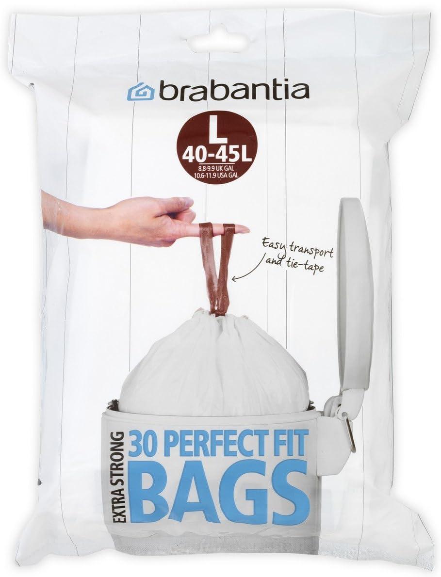 60 St/ück Brabantia M/üllbeutel-Spenderpackung 3 Liter