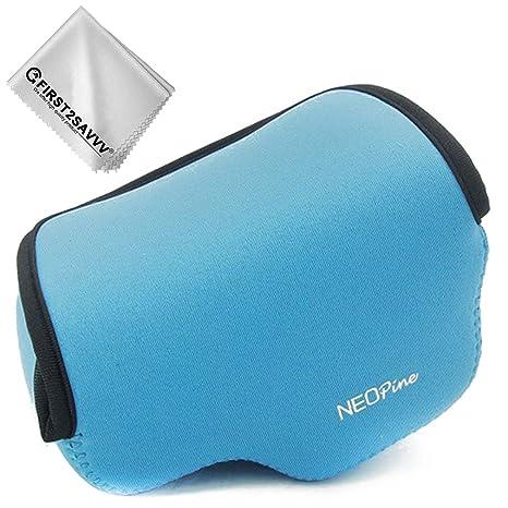 Azul Funda Cámara Reflex Neopreno Protectora para Sony Alpha A6600 ...