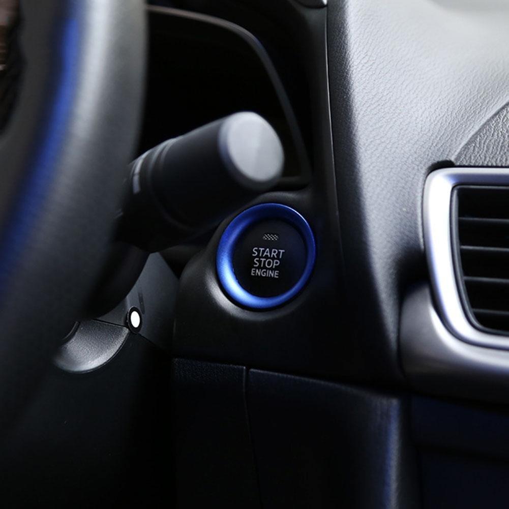 rot 2017 Abdeckung rot Konsole ZHUOTOP Motor-Startknopf-Ring f/ür Mazda 3/Axela 2014
