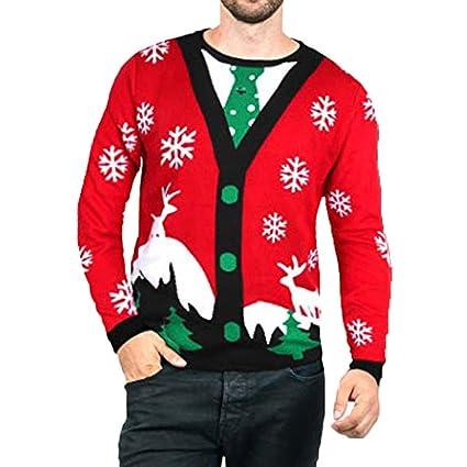 Suéter de Pareja de Navidad Suéter con Estampado de Navidad ...