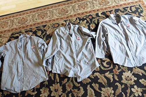 3 Coca Cola 2 Pocket Long Sleeve Shirt Gray Delivery Driver Work Uniform 17-17.5 (Drivers Uniform For Men)
