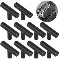 Ziyero 10 stuks T-vormige geborsteld legering handvat enkele gat kast handvat moderne keukenkast meubels handgrepen…