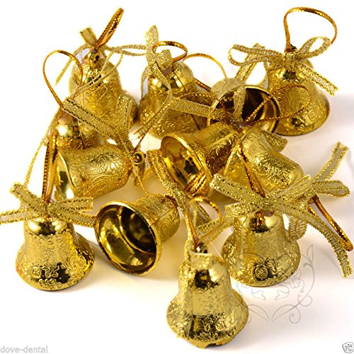 china bell for christmas tree hanging ornament party xmas decoration gold