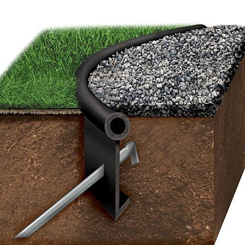 Black Jack Poly Lawn Edging, One Heavy Duty Edging Kit by Oly-Ola Edgings