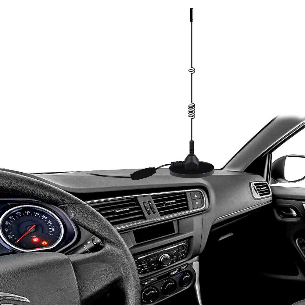 Antenne Auto DAB Antenne mit MCX Anschluss Leistungsstarker Magnetfu/ß+3M-Kabel f/ür Digitalen DAB Autoradio Adapter Anzug zur Installation von Innen Au/ßen Verbesserte DAB Antenne,Esuper Universal DAB
