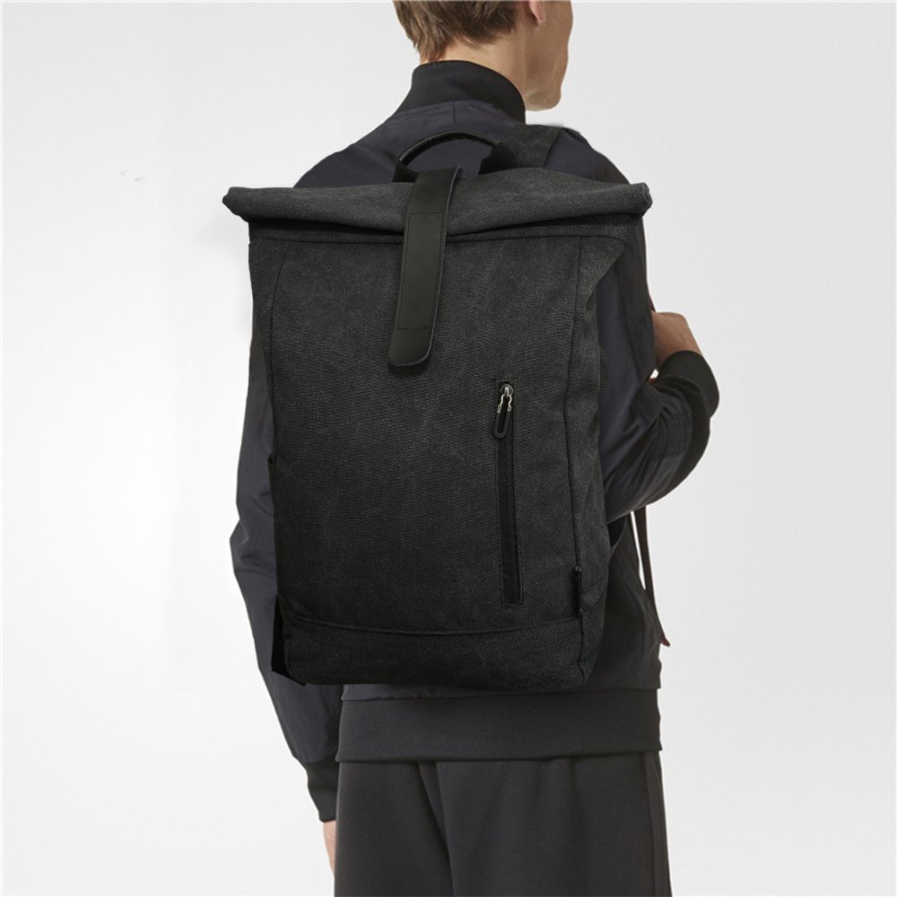 4ef946bcf2fbf Tocode Laptop Roll Top Backpack Canvas