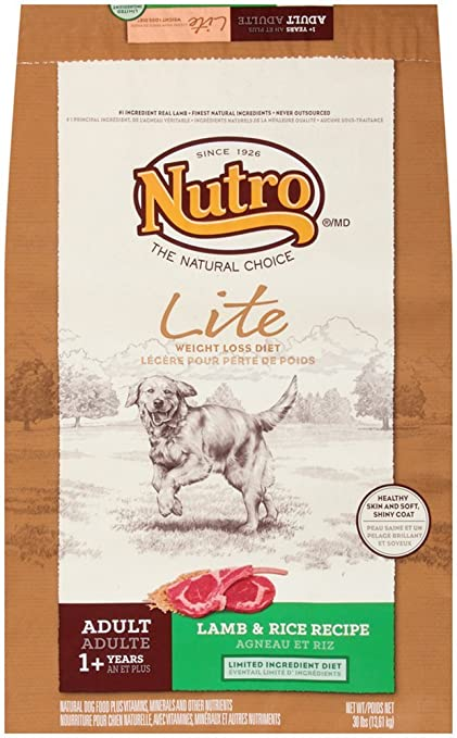 Amazoncom Nutro Adult Lite Weight Loss Dog Food Lamb And Rice