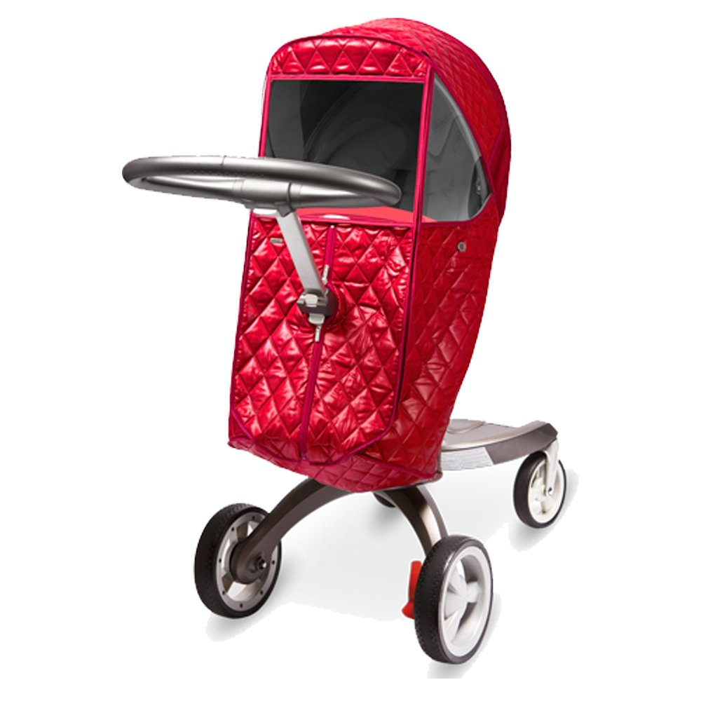 [Manito] STOKKE Castle Cover / Cover for only STOKKE Stroller and Pushchair, Rain Cover, Wind Weather Shield for outdoor strolling, Eye Protective Wide Windows (Red) Totalkids