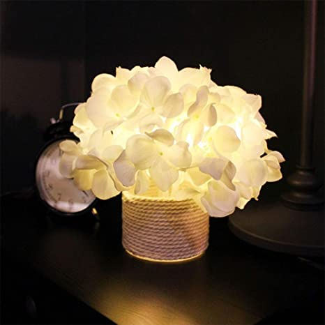 Admirable Seasons Led Lighted Artificial Flower White Hydrangea Download Free Architecture Designs Grimeyleaguecom