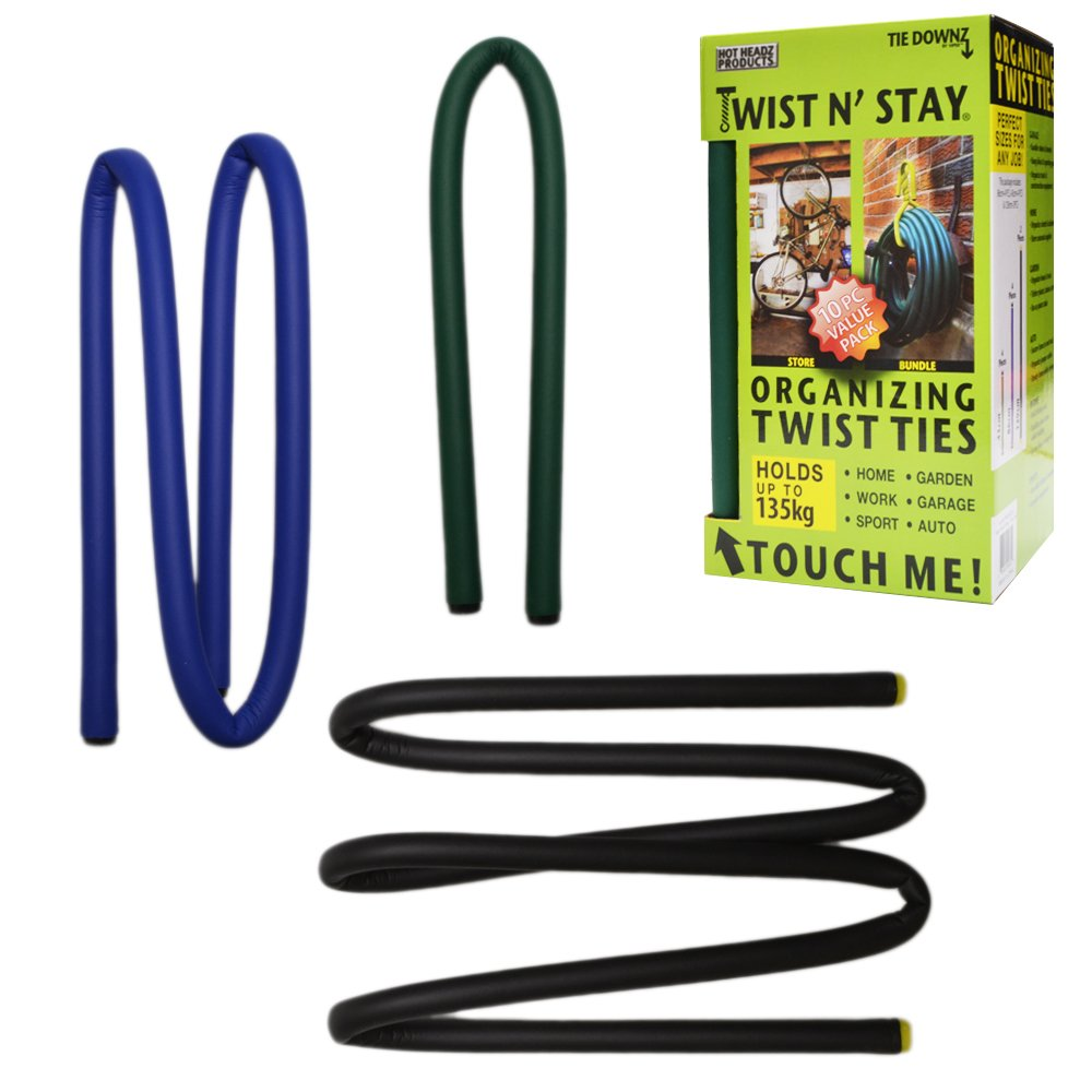 Twist N' Stay Set of 10 Super-Strong Organizing Twist Ties