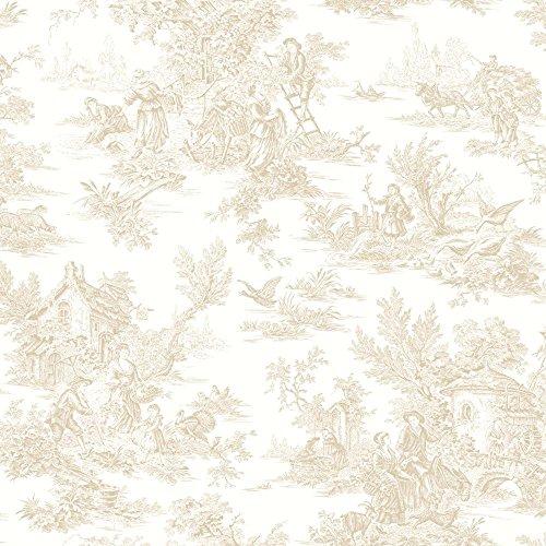 York Wallcoverings AB2055 Black and White Tyler Houndstooth Wallpaper, Cream/Beige/Light