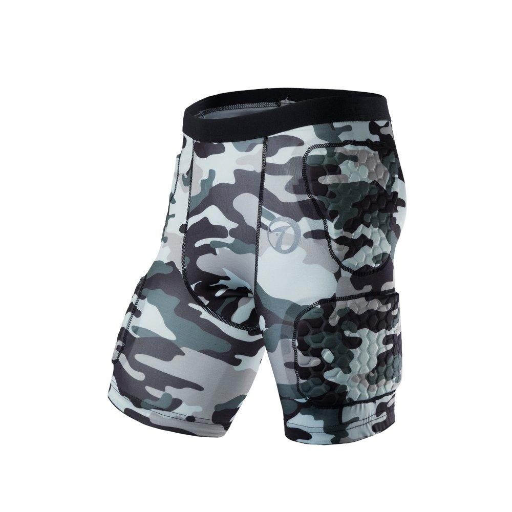 Body Safe Garde Rembourr¨¦ Compression Sports Shorts de Protection Rib Jam Protecteur Camo Pantalon pour Football Basketball Paintball Rugby Parkour Extreme