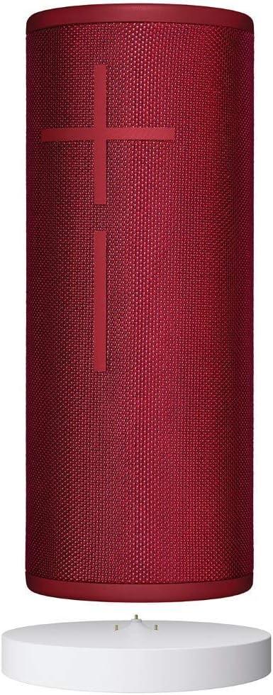 Ultimate Ears Boom 3 Altavoz Portátil Inalámbrico Bluetooth + Base de Carga Power Up, Graves Profundos, Impermeable, Flotante, Conexión Múltiple, Batería de 15 h - Rojo