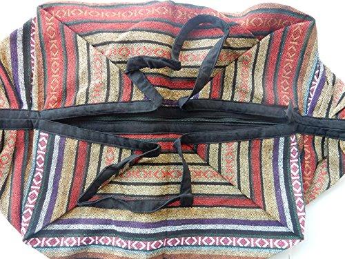 Ariyas Thaishop, 2in 1combi zaino/borsa cotone, lavorazione