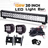toyota tacoma 2009 bull bar - Spead-Vmall DOT Approved 20Inch Spot Flood Combo Led Light Bar Reverse For Front Rear Bumper Brush Bull Bar Grille Trails Truck Rtv Tractor Jeep Ford F150 Polaris ATV Boat Golf Cart Mower Honda UTV
