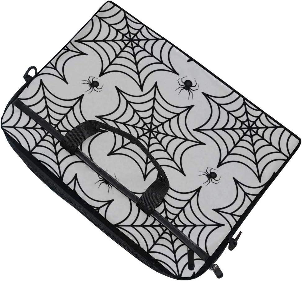 Laptop Bag Cobweb Spider Repetitive Texture 15-15.4 Inch Laptop Case Briefcase Messenger Shoulder Bag for Men Women College Students Business Peopl