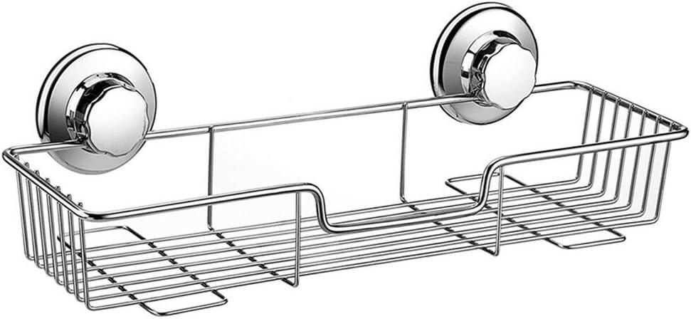 ARCCI Powerful Suction Cup Shower Caddy, Bath Shelf Storage Combo Organizer Basket for Bathroom & Kitchen, Rustproof Stainless Steel