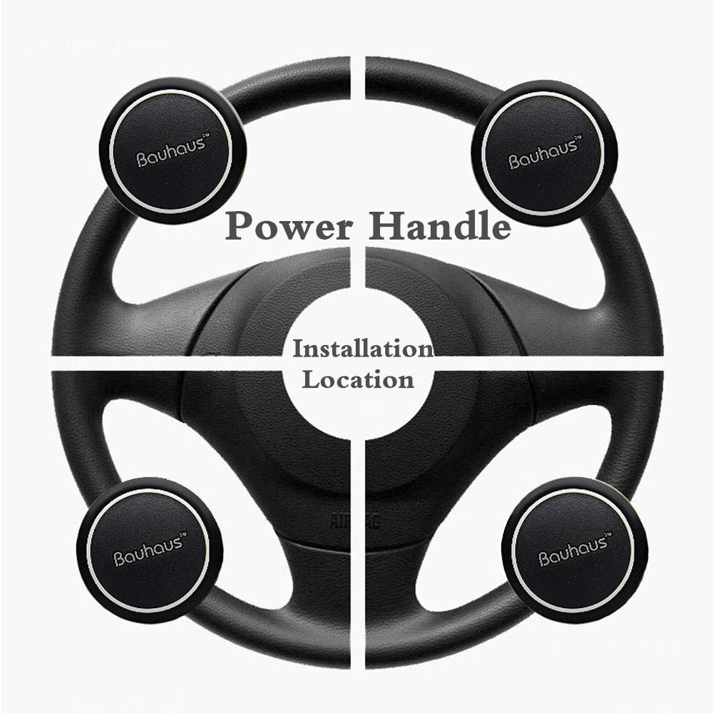 Vehicle Wheel Spinner with Silicone Power Handle Universal Fit for Car Truck SUV Tractor Trailer Big Rig Boat /& More Youmijia 4350392457 Wisewife Steering Wheel Spinner Knob