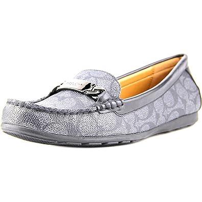 e6cd5f8b315 Coach Women s Olive Black Smoke Black Signature Embossed PVC Matte Calf Shoe