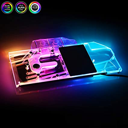 Amazon com: GPU Copper RBW LED Water Cooling Block for Asus