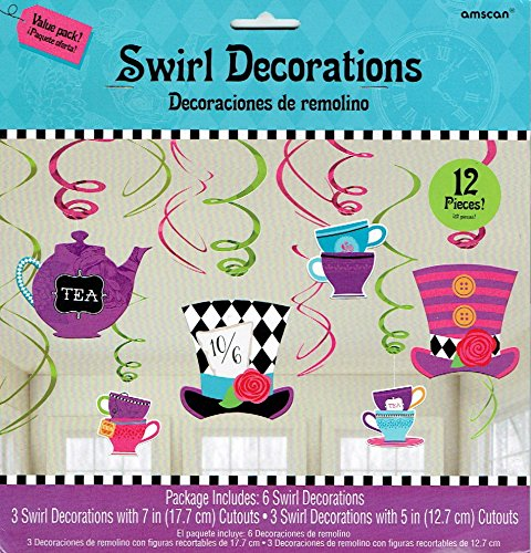 Alice In Wonderland Mad Hatter Tea Party Swirls by (Alice Wonderland Mad Hatter Costume)