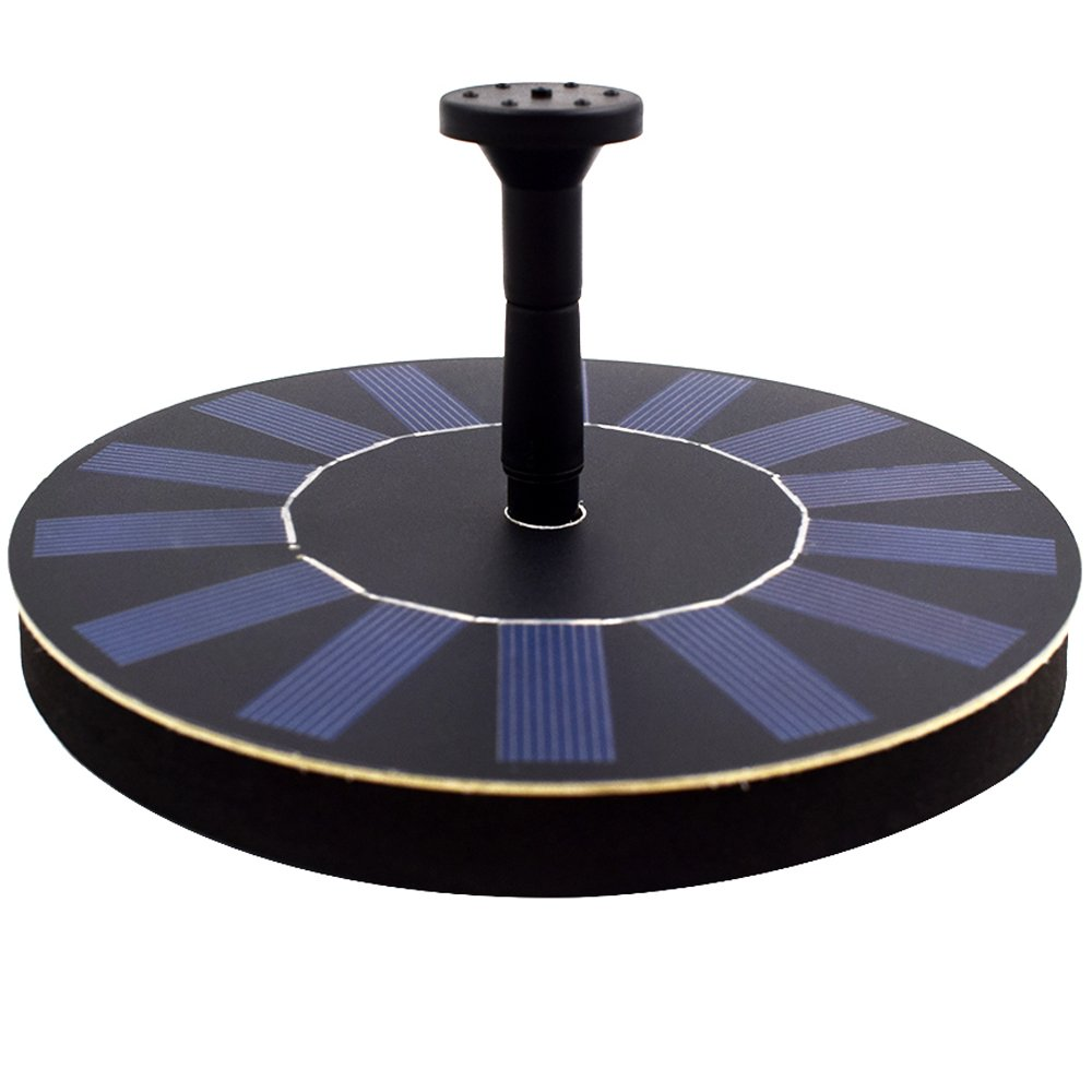 HOPPIC Solar Fountain Free Standing Floating Solar Water Pump with Different Water Patterns for Birdbath(1.4W)
