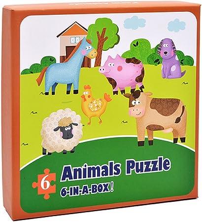 Faironly - Puzle de Animales de 6 Pulgadas en una Caja, Juguete ...