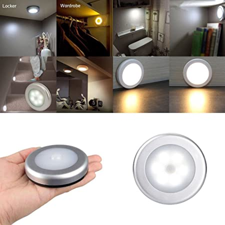 Lower Price with 1pcs Light With 6 Led Wireless Pir Motion Sensor Light Wall Cabinet Wardrobe Drawer Lamp Battery Furniture