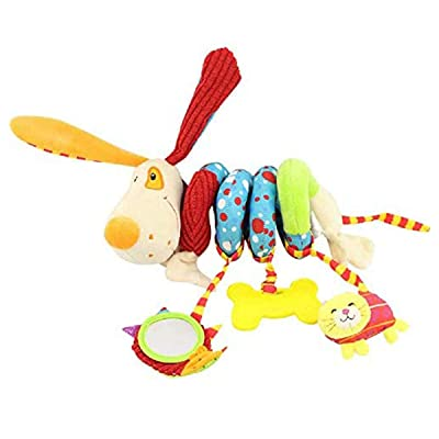yijing Hanging Toys-Kid Baby Crib Cot Pram Hanging Rattles Spiral Stroller Car Seat Toy for Baby and Kids (Puppy): Toys & Games