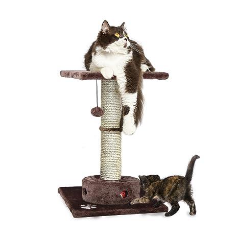 FurHaven Pet Cat Furniture | Tiger Tough Cat Playground Scratching Post Furniture, Brown