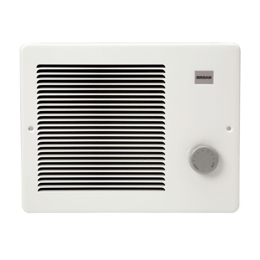 Broan 170 Wall Heater, 500/1000 Watt 120 VAC, White Painted Grille